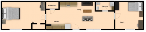 2 Bed / 1 Bath / Deposit: $99 / Rent: $400